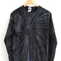 Black Tie-Dye Long Sleeve Unisex Tee