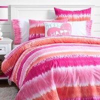 Reef Tie-Dye Duvet Cover + Sham, Warm