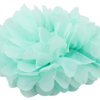 USPRO® 4 Inches Tissue Paper Flower Pom Decoration and Ornament for Festival/Event/Project/Birthday/Party/Wedding Nice Gift Mint Green