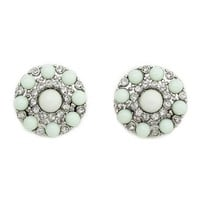 Beaded Disk Stud Earrings: Charlotte Russe