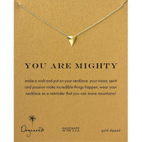 Dogeared Mighty Triangle Gold Plated Short Chain Clavicle Necklace