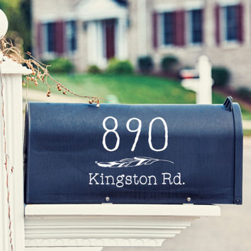 Feather Mailbox Decal