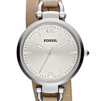Fossil 'Georgia' Faux Wrap Leather Strap Watch, 32mm | Nordstrom