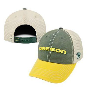 Licensed Oregon Ducks Official NCAA Adjustable Offroad Hat Cap by Top of the World 172224 KO_19_1