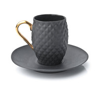Black Handmade Pineapple Ceramic Espresso Cup