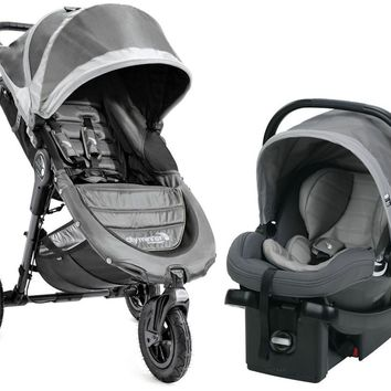 Baby Jogger City Mini GT Travel System Stroller w/ City Go Infant Car Seat Steel