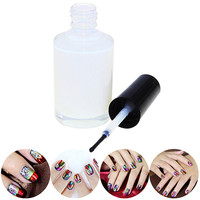 1Pc Pro White Glue Adhesive for Galaxy Star Foil Sticker Nail Art Transfer Tips KIJ A4RN