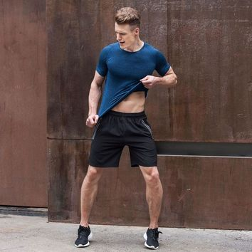 New Sport Running Basketball Shorts Men with Pockets Reflective Zipper Quick Drying Breathable Outdoor Gym Short Crossfit Shorts