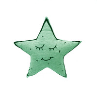 Baby Little Star Toys Gray Kawaii Appearence Doll Cushion Glow In Dark Decoration Soft Cotton Stuffed Dolls Floor Pillow 1pcs