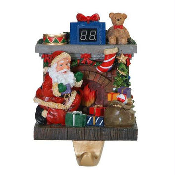 Santa Stocking Holder - Atop The Fireplace Sits A 99 Day Countdown Meter