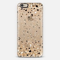 Gold Black and White Love Confetti Explosion iPhone 6 case by Organic Saturation | Casetify