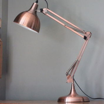 Copper Angled Table Lamp
