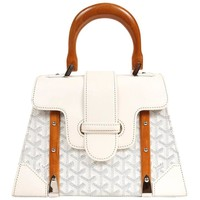 Goyard White Saigon Handle Bag