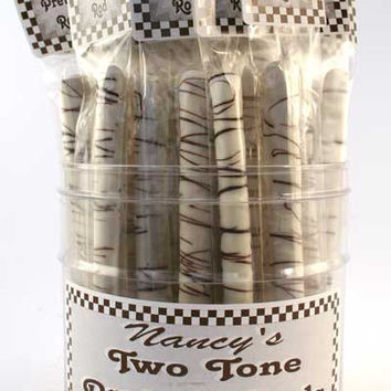 Two Tone Pretzel Rod - Nancy's Candy