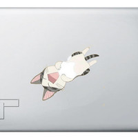 lovely cat  macbook decal/Macbook Pro, Air,Ipad decal/Stickers/Macbook Decals/Apple Decal for Macbook Pro / Macbook Air/laptop