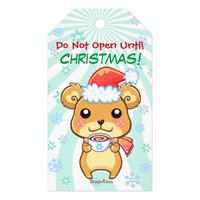 Winter Christmas Bear Customizable Gift Tags Pack Of Gift Tags