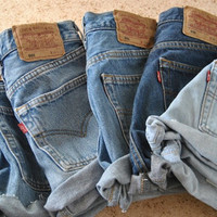 ALL SIZES Levis High Waisted Cuffed Denim Shorts Random Wash