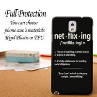 Netflixing Tumblr Phone Case iPhone 6 / 5c / 5/5s / 4/4s, Galaxy S6, S5, S4, S3, Xperia Z,Z1,Z2 cases