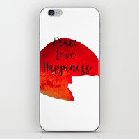 Peace Love Happiness iPhone & iPod Skin by Grimalkin Studio