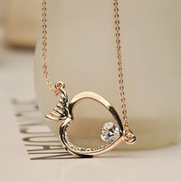 Diamond Eyed Fish Necklace