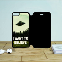 I Want To Believe iPhone 6 Plus Flip Case Dewantary