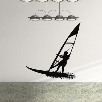 Surf Wall Decal Surfboard Vinyl Sticker Sports Surfing Guy Sportsman Wall Decals Bedroom Dorm Boy Nursery Kids Room Wall Art Home Decor Z839
