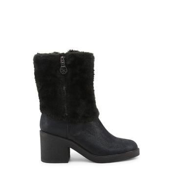 Guess Furry Boots With Low Heel And Zipper Side - FLRIL4SUP10