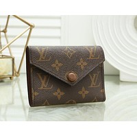 Louis Vuitton LV Women Leather Buckle Wallet Purse 4#