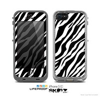 The Simple Vector Zebra Animal Print Skin for the Apple iPhone 5c LifeProof Case