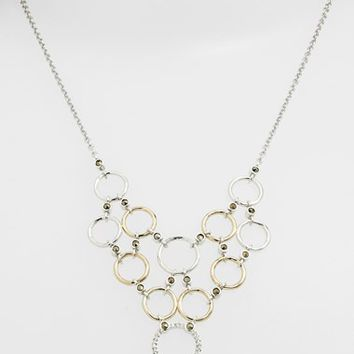 Women's Judith Jack 'Chain Reaction' Two-Tone Bib Necklace