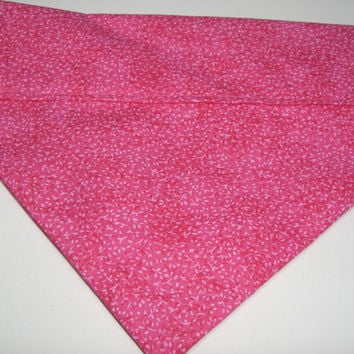 Bright Pink Floral Pattern Dog Bandana - Slides Over Collar