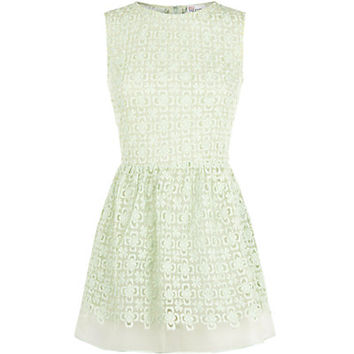 Red Valentino Floral Organza Sleeveless Top