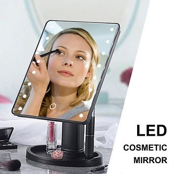 Portable 360 Degree Rotation Touch Induction Tabletop Cosmetic Mirror