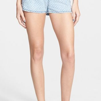 Junior Women's Rip Curl 'Ryder' Chambray Shorts,