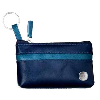 Cross 1846 Leather Cobalt Aegean Blue Key Ring Pouch