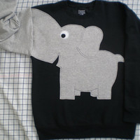 NEW Elephant Trunk sleeve sweatshirt sweater jumper KiDS XS,S,M Black