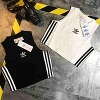ADIDAS 2018 new counter section tide brand fashion sports vest + skirt F-XMCP-YC