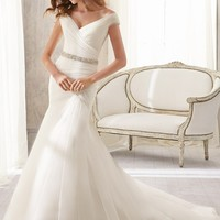 Blu by Mori Lee 5210 Fit and Flare Wedding Dress