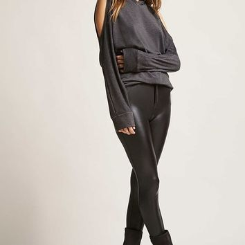 Open-Shoulder Hooded Top