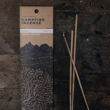 Death Valley Campfire Incense design by Juniper Ridge