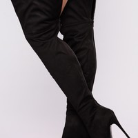 Valentina Heel Boot - Black