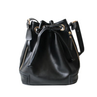 Leather Pouch Drawstring Bag