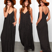 Sexy Women Summer Boho Long Maxi Evening Party Dress Beach Dresses Chiffon Dress = 4756844676