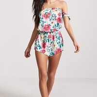 Floral Swim Cover-Up Romper