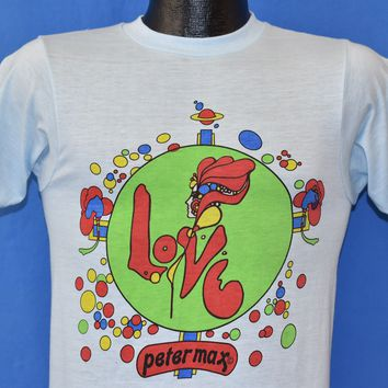 70s Peter Max Psychedelic Artist t-shirt Small