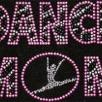 Dance  mom rhinestone transfer - DIY Transfer - Or Custom Order Shirt Iron on hot fix heat transfer pink zebra