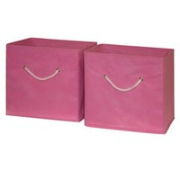 RiverRidge Kids 2 Pc Storage Bins - Pink