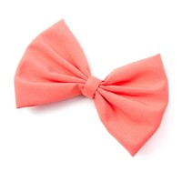 Coral Fabric Bow Hair Clip | Icing