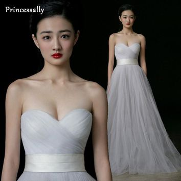 Simple Wedding Dress White Sweetheart Tulle Pleat Off the Shoulder Cheap Wedding Dress Made In China Prom Gown Vestido De Noiva
