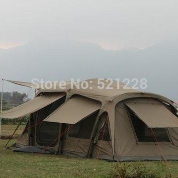 Huge 2 bedroom firm durable automatic inflating 5-8 person outdoor camping tent